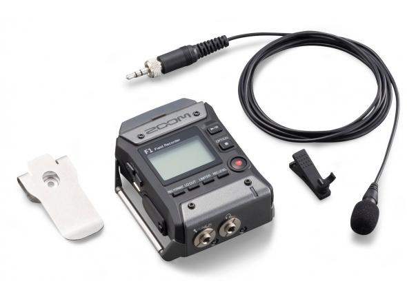 Zoom F1-LP  Gravador Zoom F1-LP Field Recorder com Microfone Lavalier combina um gravador de áudio F1 de dois canais, com um microfone lavalier omnidirecional LMF-1. Leve (com 4,2 oz) e com um design de baixo perfil, ele se encaixa perfeitamente nas cintas ou cintas e se encaixa dentro dos bolsos sem ser visto, oferecendo videographers, vloggers e jornalistas com uma solução flexível para capturar áudio de alta qualidade para vídeo, Não importa o quão longe o assunto é da câmera.