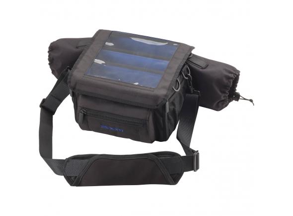 Zoom PCF-8  Bolsa para Zoom PCF-8, caixa protectora para o ZOOM F8, aberturas laterais para cabos XLR / TRS entrada  de cabo , proteção, destacável, cobertura resistente à água com janela transparente para monitoramento visual,  além de abertura para notas pessoais.    PCF-8 Specifications  Dimensions:   270 mm (W) × 240 mm (D) × 160 mm (H)    Weight:   860g