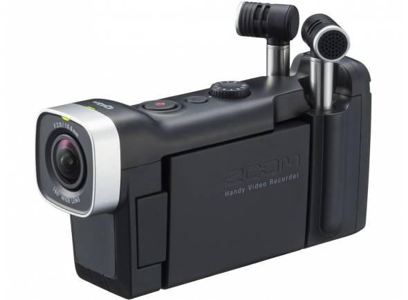 Zoom Q4N   Gravador digital portátil. De alta qualidade 160 ° lente grande-angular (F2.0 / 16,6 mm). 10 opções de cena. Cinco passos de zoom digital. Grava diretamente em cartões SDXC de até 128GB. Fácil gravação