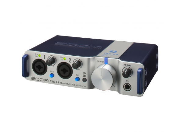 Zoom TAC-2R   Interface de áudio compacto, leve e portátil. Com conexão Thunderbolt, sem latência e 192 KHz. Interface MIDI (in / out). Entradas: 2x combinação XLR / TRS mic.