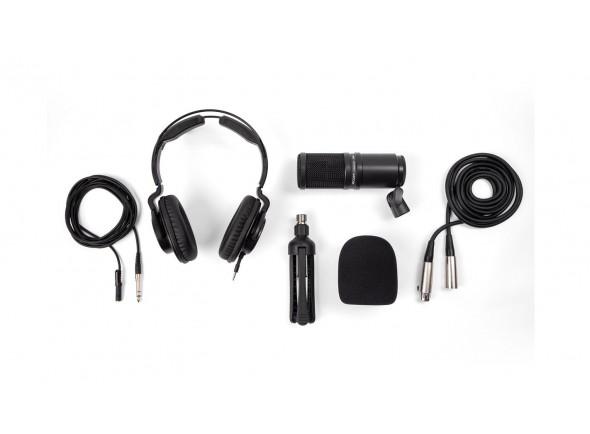 Microfone de membrana grande Zoom ZDM-1 Podcast Mic Pack